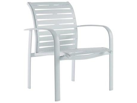 Tropitone Laguna Beach EZ Span Ribbon Aluminum Stackable Dining Arm Chair