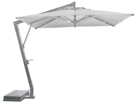 Tropitone Cantillever Aluminum 13'' Square Crank Tilt Umbrella in Canvas Natural