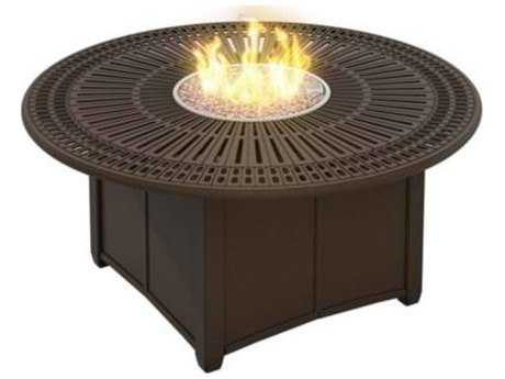Tropitone Spectrum Aluminum 55 Round Fire Pit Table