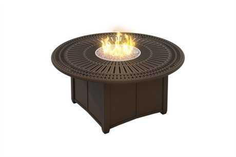 Tropitone Spectrum Aluminum 55 Round Fire Pit Table