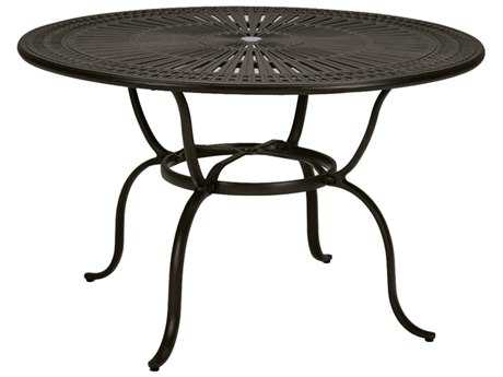 Tropitone Kd Spectrum Cast Aluminum 66 Round Counter Table with Umbrella Hole