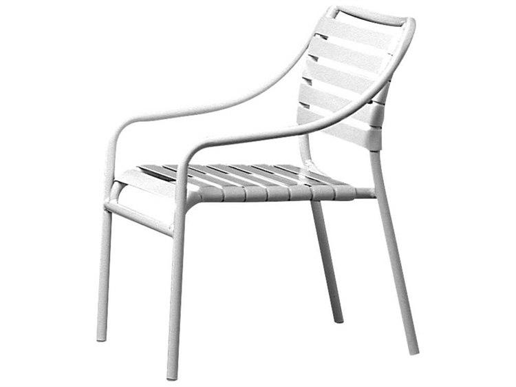 Tropitone Kahana Strap Aluminum Dining Arm Chair PatioLiving