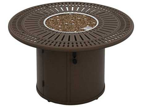 Tropitone Garden Terrace Aluminum 43 Round Fire Pit Table