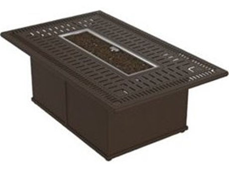 Tropitone Spectrum Aluminum 53 x 32 Rectangular Fire Pit Table