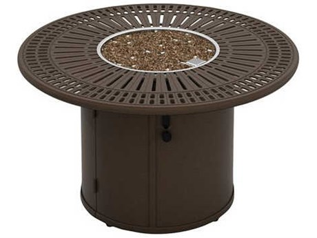 Tropitone Spectrum Fire Pits 43'' Wide Round Fire Pit Table