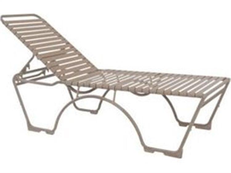 Tropitone Kahana Strap Aluminum Stackable Chaise Lounge PatioLiving