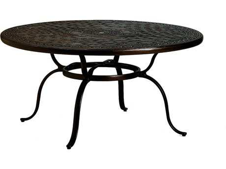 Tropitone Kd Garden Terrace Cast Aluminum 55 Round Dining Table with Umbrella Hole