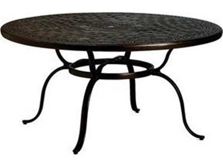 Tropitone Kd Garden Terrace Cast Aluminum 55 Round Counter Table with Umbrella Hole