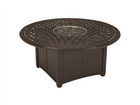Tropitone Garden Terrace Aluminum 55 Round Fire Pit Table