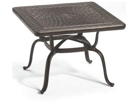 Tropitone Cast KD Garden Terrace Aluminum 31''Wide Square End Table PatioLiving