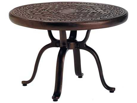 Tropitone Cast KD Garden Terrace Aluminum 25''Wide Round End Table PatioLiving