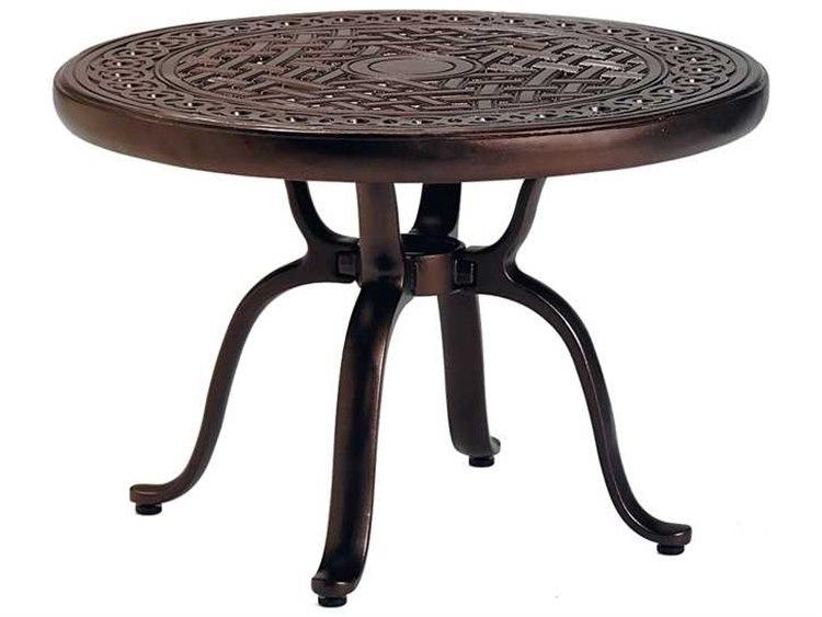 Tropitone Kd Garden Terrace Cast Aluminum 25 Round End Table