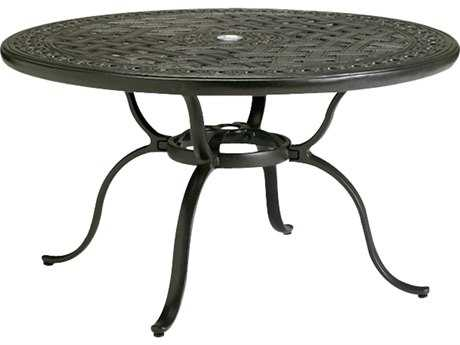 Tropitone Kd Garden Terrace Cast Aluminum 43 Round Chat Table with Umbrella Hole TP820686