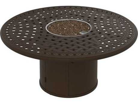 Tropitone Garden Terrace Fire Pits - Manual Ignition 55 Round Fire Pit (24 round base)