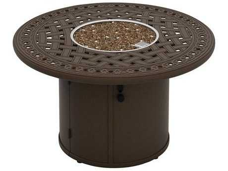 Tropitone Garden Terrace Height Fire Pits - Manual Ignition 43 Round Fire Pit (24 round base)