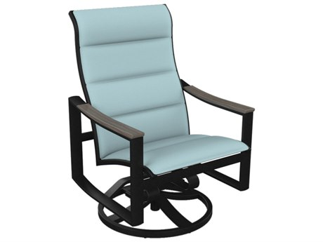 Tropitone Brazo Padded Sling Aluminum Swivel Action Lounger