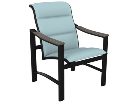 Tropitone Brazo Padded Sling Aluminum Dining Arm Chair