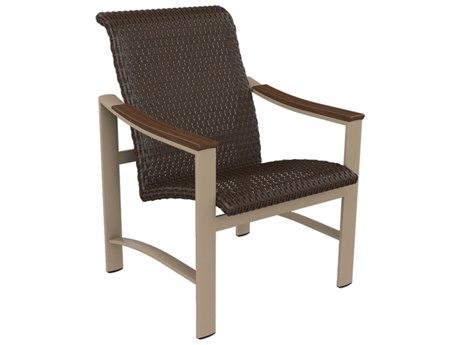 Tropitone Brazo Woven Aluminum Dining Arm Chair