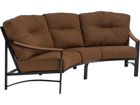 Tropitone Brazo Crescent Aluminum Cushion Sofa