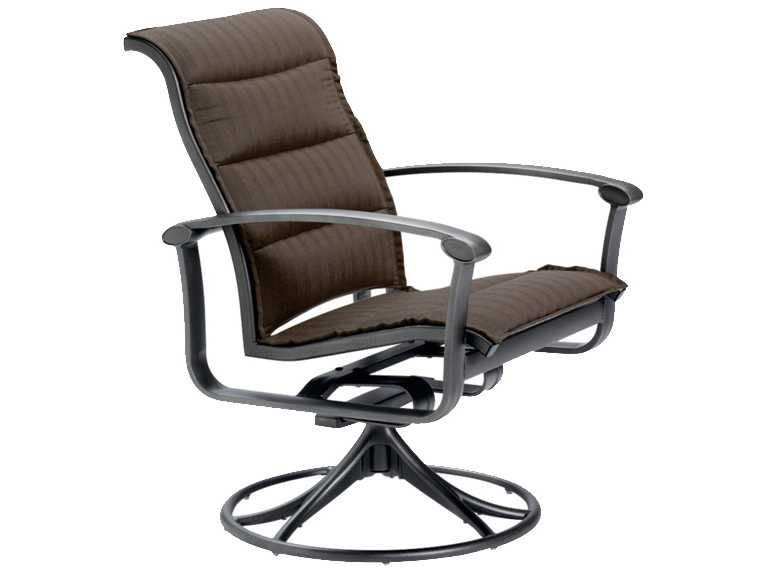 Tropitone Ovation Padded Sling Aluminum Swivel Rocker