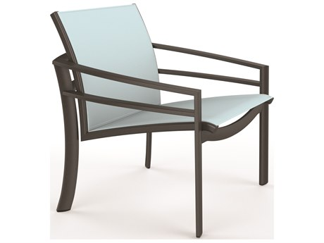 Tropitone Kor Relaxed Sling Aluminum Lounge Chair PatioLiving