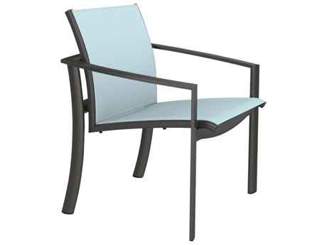 Tropitone Kor Relaxed Sling Aluminum Dining Arm Chair