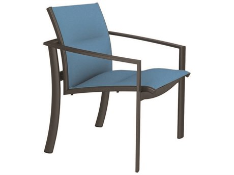 Tropitone Kor Padded Sling Aluminum Dining Arm Chair
