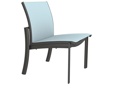 Tropitone Kor Relaxed Sling Aluminum Dining Side Chair