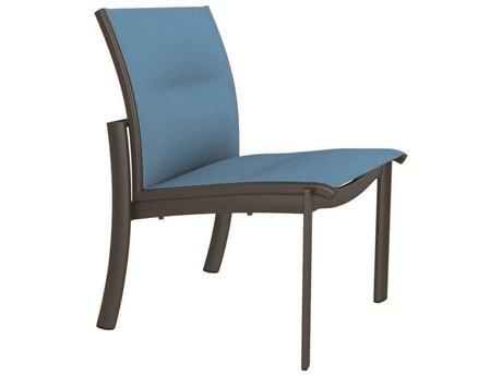 Tropitone Kor Padded Sling Aluminum Dining Side Chair PatioLiving