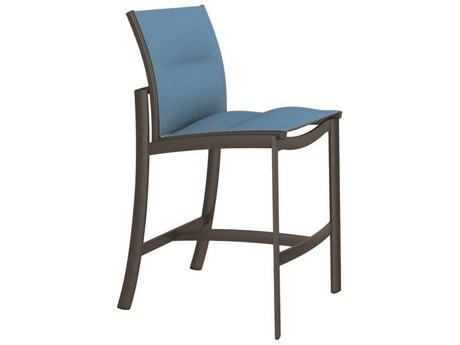 Tropitone Kor Padded Sling Aluminum Armless Stationary Bar Stool 28 PatioLiving