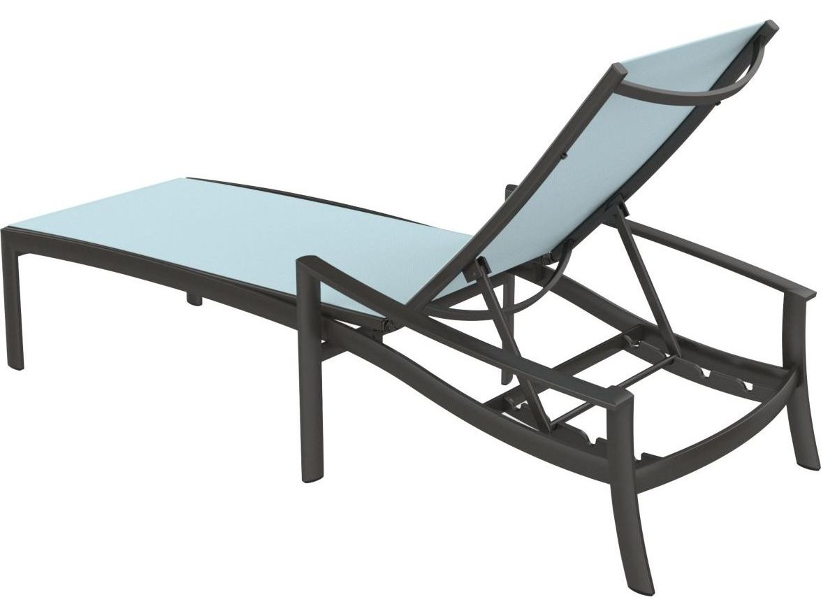 Tropitone kor relaxed sling aluminum chaise lounge 891532 for Chaise lounge aluminum