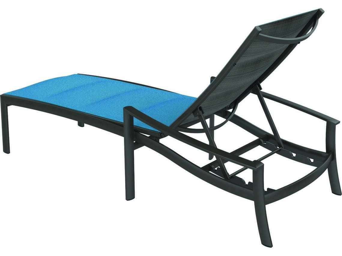 Tropitone kor padded sling aluminum chaise lounge 891532ps for Chaise aluminium