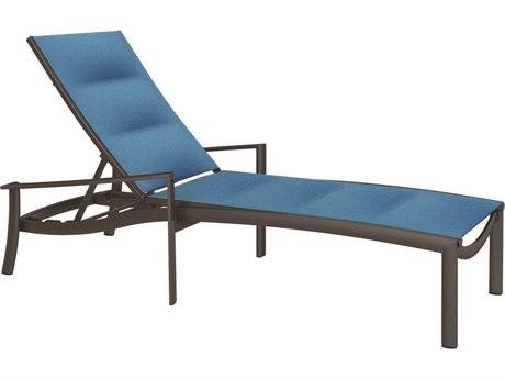 Tropitone Kor Padded Sling Aluminum Chaise Lounge