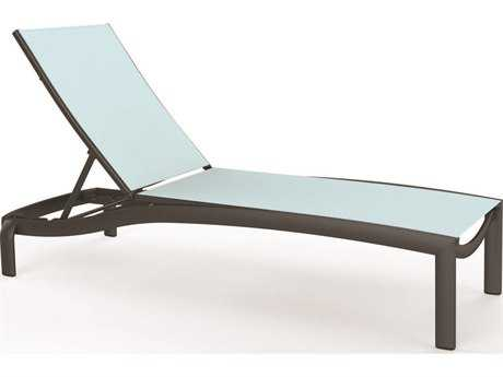 Tropitone Kor Relaxed Sling Aluminum Chaise Lounge Armless