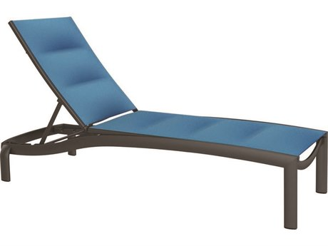 Tropitone Kor Padded Sling Aluminum Chaise Lounge Armless