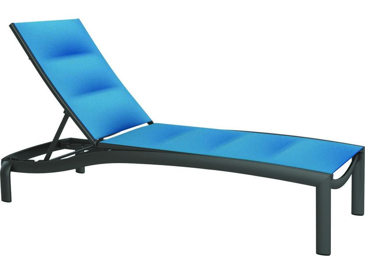 Tropitone kor padded sling aluminum chaise lounge armless for Chaise lounge construction