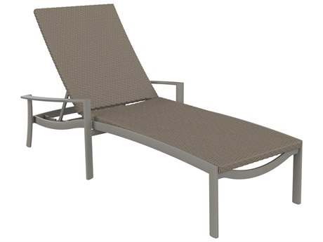 Tropitone Kor Woven Aluminum Wicker Chaise Lounge