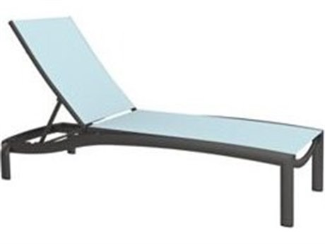 Tropitone Kor Sling Aluminum Chaise Lounge Armless