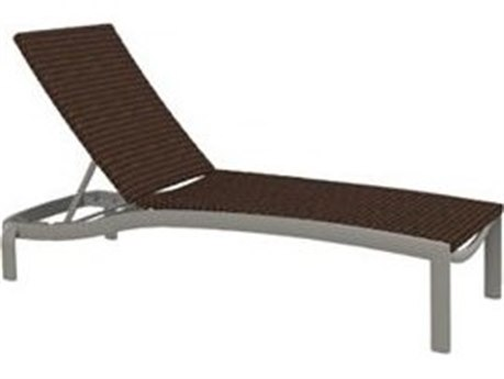 Tropitone Kor Woven Aluminum Wicker Armless Chaise Lounge