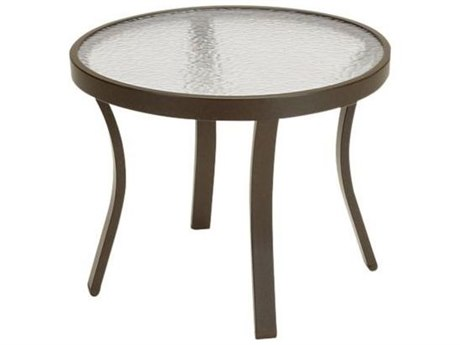 Tropitone Cast Aluminum 20 Round Curved Legs End Table