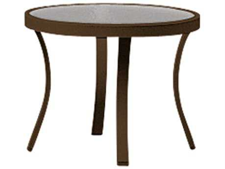 Tropitone Cast Aluminum 20 Round Obscure Curved Legs End Table
