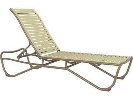 Tropitone Millennia Ribbon Segment Aluminum Chaise Lounge Armless
