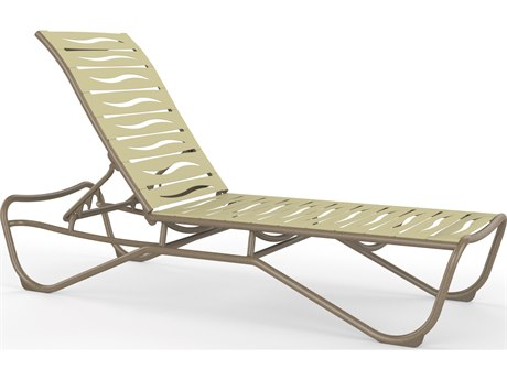Tropitone Millennia Wave Segment Aluminum Chaise Lounge Armless PatioLiving