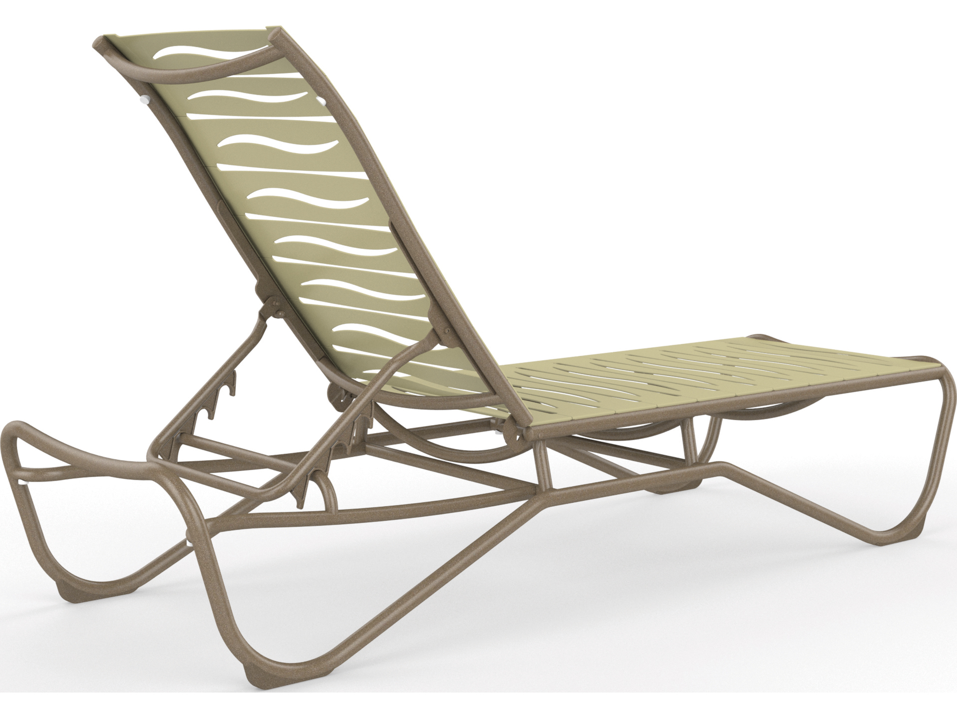 Tropitone millennia wave segment aluminum chaise lounge for Armless chaise longue