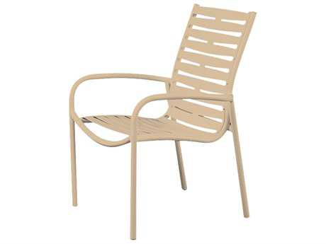 Tropitone Millennia Ribbon Segment Aluminum Stackable Dining Chair