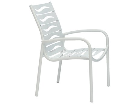 Tropitone Millennia Wave Segment Aluminum Stackable Dining Chair
