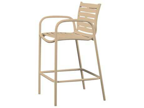 Tropitone Millennia Ribbon Sgement Aluminum Bar Stool