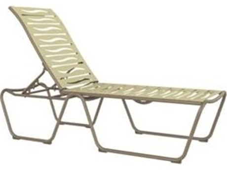 Tropitone Millennia Ribbon Segment Aluminum Stackable Armless Chaise Lounge
