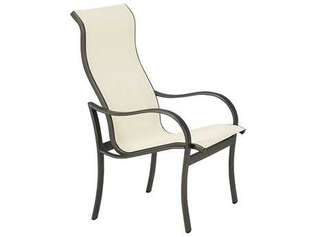 Tropitone Shoreline Sling Aluminum High Back Dining Chair
