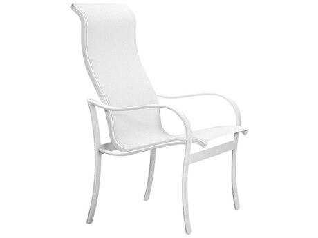 Tropitone Shoreline Sling Aluminum High Back Dining Arm Chair